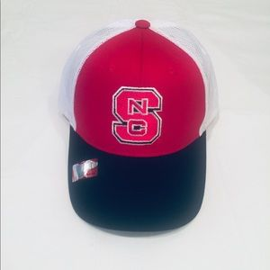 NC State trucker hat by Captivating.